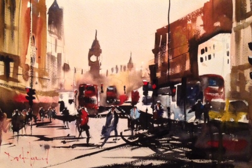 David Heywood Big Ben Original Watercolour