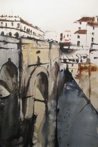 David Heywood Puente Nuevo bridge on the Guadalevn River in Ronda