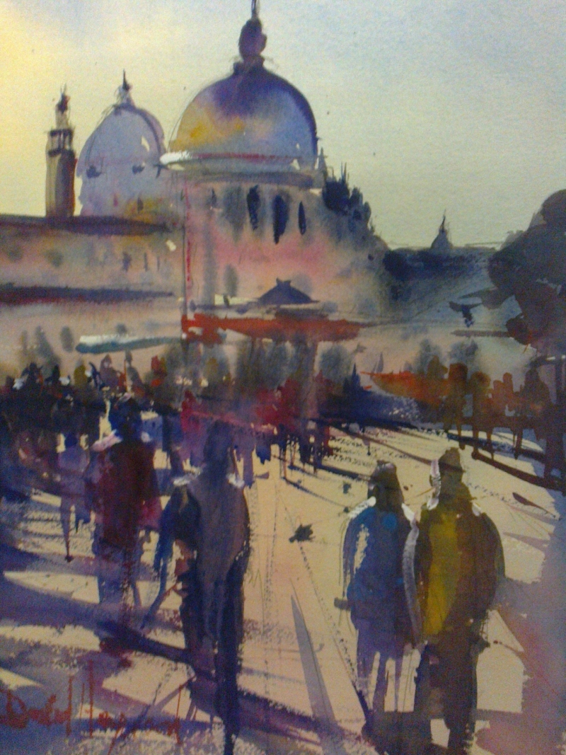 David Heywood Santa Maria Della Salute Venice Original Watercolour