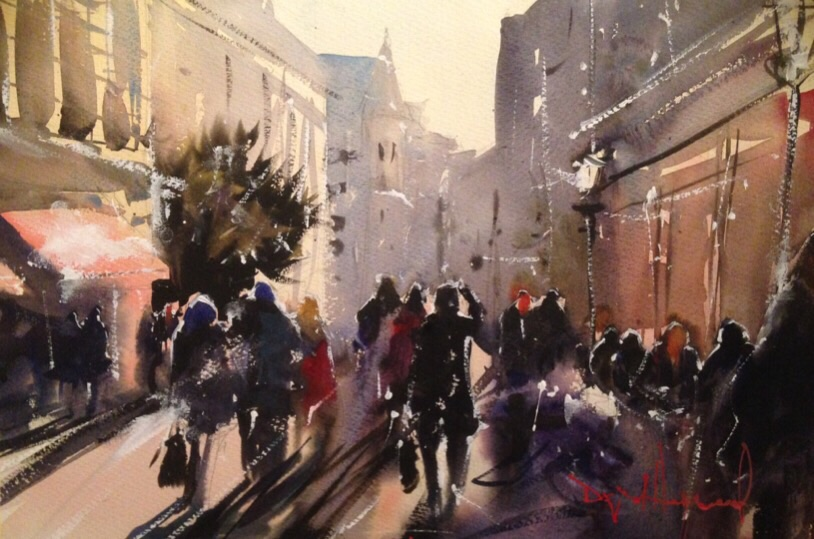 David Heywood Covent Garden Original Watercolour