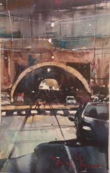 "David Heywood 'Rome"" Original Watercolour"