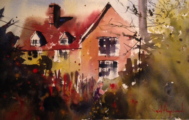 David Heywood Dedham Hall Original Watercolour