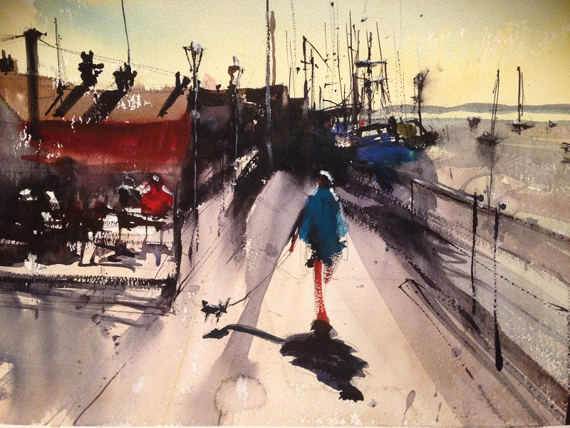 David Heywood LEIGH ON SEA 1 Original Watercolour