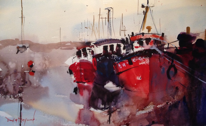 David Heywood LEIGH ON SEA 2 Original Watercolour